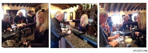 Working the tasting room. The guy in the middle photo is my dad!